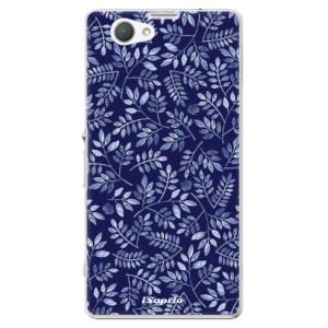 Plastové pouzdro iSaprio Blue Leaves 05 na mobil Sony Xperia Z1 Compact