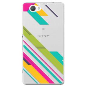 Plastové pouzdro iSaprio Color Stripes 03 na mobil Sony Xperia Z1 Compact