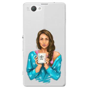 Plastové pouzdro iSaprio Coffe Now Brunette na mobil Sony Xperia Z1 Compact