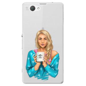 Plastové pouzdro iSaprio Coffe Now Blond na mobil Sony Xperia Z1 Compact