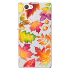 Plastové pouzdro iSaprio Autumn Leaves 01 na mobil Sony Xperia Z1 Compact