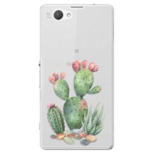 Plastové pouzdro iSaprio Cacti 01 na mobil Sony Xperia Z1 Compact