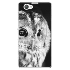 Plastové pouzdro iSaprio BW Owl na mobil Sony Xperia Z1 Compact