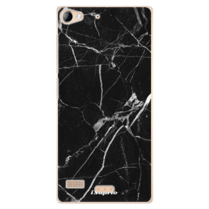 Plastové pouzdro iSaprio Black Marble 18 na mobil Sony Xperia Z2