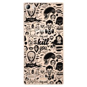 Plastové pouzdro iSaprio Comics 01 black na mobil Sony Xperia Z2