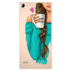 Plastové pouzdro iSaprio My Coffe and Brunette Girl na mobil Sony Xperia Z2