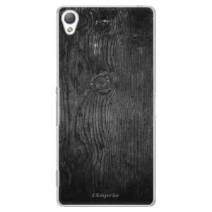 Plastové pouzdro iSaprio Black Wood 13 na mobil Sony Xperia Z3