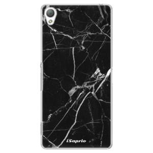 Plastové pouzdro iSaprio Black Marble 18 na mobil Sony Xperia Z3
