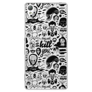 Plastové pouzdro iSaprio Comics 01 black na mobil Sony Xperia Z3