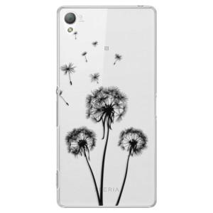 Plastové pouzdro iSaprio Three Dandelions black na mobil Sony Xperia Z3