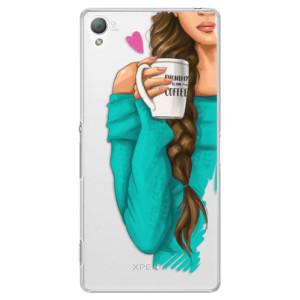 Plastové pouzdro iSaprio My Coffe and Brunette Girl na mobil Sony Xperia Z3