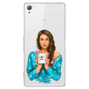 Plastové pouzdro iSaprio Coffe Now Brunette na mobil Sony Xperia Z3