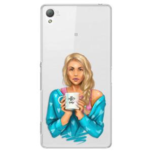 Plastové pouzdro iSaprio Coffe Now Blond na mobil Sony Xperia Z3