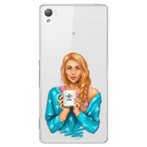 Plastové pouzdro iSaprio Coffe Now Redhead na mobil Sony Xperia Z3