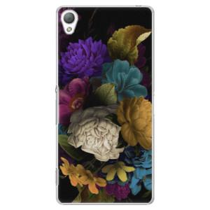 Plastové pouzdro iSaprio Dark Flowers na mobil Sony Xperia Z3