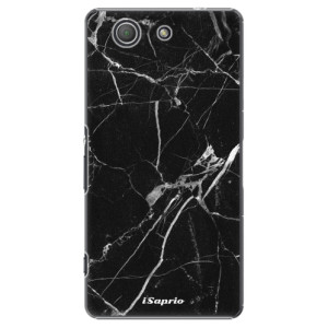 Plastové pouzdro iSaprio Black Marble 18 na mobil Sony Xperia Z3 Compact