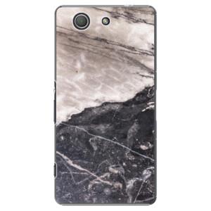 Plastové pouzdro iSaprio BW Marble na mobil Sony Xperia Z3 Compact