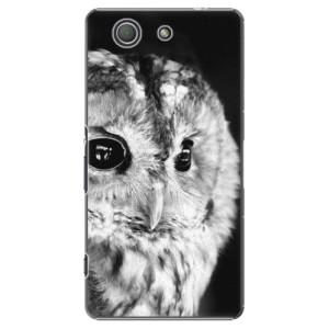Plastové pouzdro iSaprio BW Owl na mobil Sony Xperia Z3 Compact