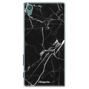 Plastové pouzdro iSaprio Black Marble 18 na mobil Sony Xperia Z5