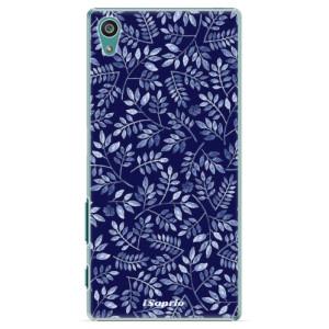 Plastové pouzdro iSaprio Blue Leaves 05 na mobil Sony Xperia Z5