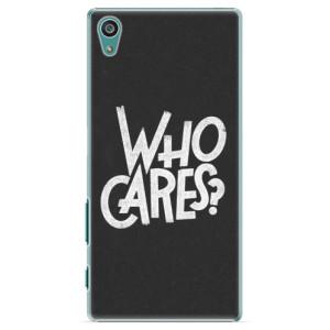 Plastové pouzdro iSaprio Who Cares na mobil Sony Xperia Z5