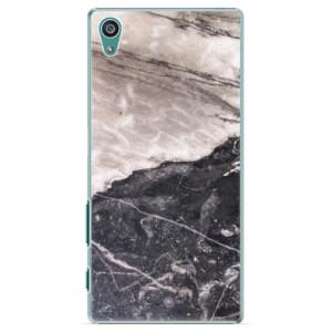 Plastové pouzdro iSaprio BW Marble na mobil Sony Xperia Z5