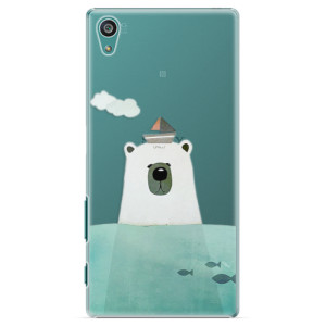 Plastové pouzdro iSaprio Bear With Boat na mobil Sony Xperia Z5