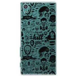 Plastové pouzdro iSaprio Comics 01 black na mobil Sony Xperia Z5
