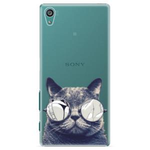 Plastové pouzdro iSaprio Crazy Cat 01 na mobil Sony Xperia Z5