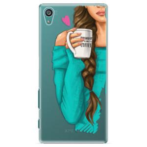 Plastové pouzdro iSaprio My Coffe and Brunette Girl na mobil Sony Xperia Z5