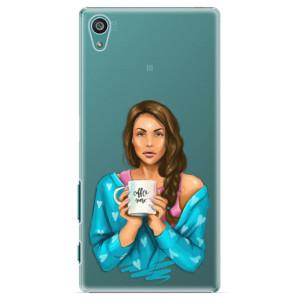 Plastové pouzdro iSaprio Coffe Now Brunette na mobil Sony Xperia Z5