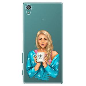Plastové pouzdro iSaprio Coffe Now Blond na mobil Sony Xperia Z5