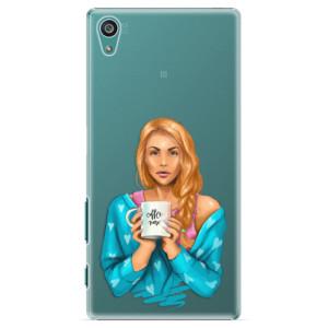 Plastové pouzdro iSaprio Coffe Now Redhead na mobil Sony Xperia Z5