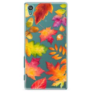 Plastové pouzdro iSaprio Autumn Leaves 01 na mobil Sony Xperia Z5