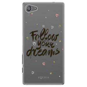 Plastové pouzdro iSaprio Follow Your Dreams black na mobil Sony Xperia Z5 Compact