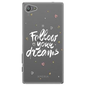Plastové pouzdro iSaprio Follow Your Dreams white na mobil Sony Xperia Z5 Compact