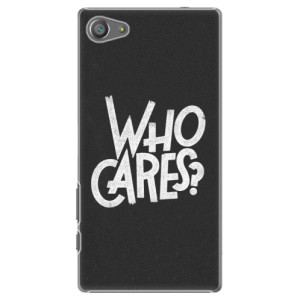 Plastové pouzdro iSaprio Who Cares na mobil Sony Xperia Z5 Compact