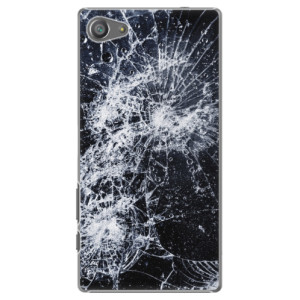 Plastové pouzdro iSaprio Cracked na mobil Sony Xperia Z5 Compact