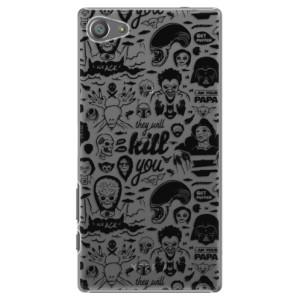 Plastové pouzdro iSaprio Comics 01 black na mobil Sony Xperia Z5 Compact