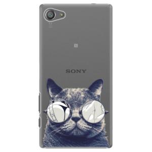 Plastové pouzdro iSaprio Crazy Cat 01 na mobil Sony Xperia Z5 Compact