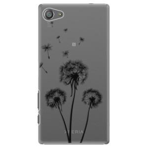 Plastové pouzdro iSaprio Three Dandelions black na mobil Sony Xperia Z5 Compact