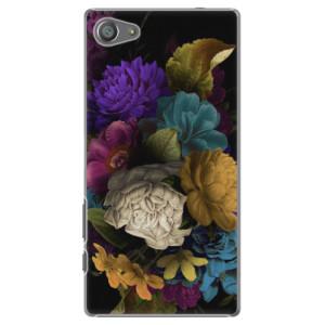 Plastové pouzdro iSaprio Dark Flowers na mobil Sony Xperia Z5 Compact