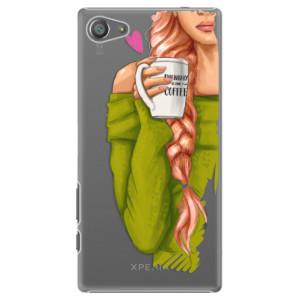 Plastové pouzdro iSaprio My Coffe and Redhead Girl na mobil Sony Xperia Z5 Compact