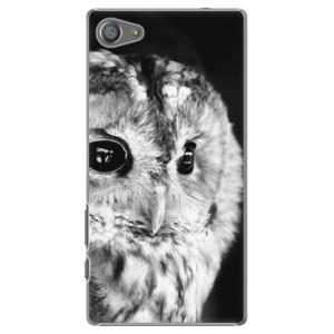 Plastové pouzdro iSaprio BW Owl na mobil Sony Xperia Z5 Compact