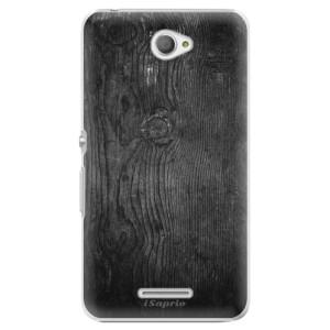 Plastové pouzdro iSaprio Black Wood 13 na mobil Sony Xperia E4