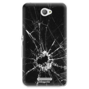 Plastové pouzdro iSaprio Broken Glass 10 na mobil Sony Xperia E4