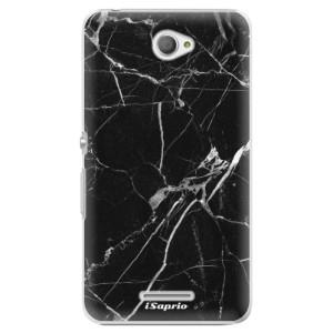 Plastové pouzdro iSaprio Black Marble 18 na mobil Sony Xperia E4