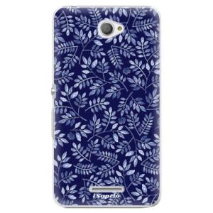 Plastové pouzdro iSaprio Blue Leaves 05 na mobil Sony Xperia E4