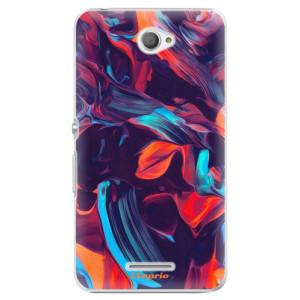 Plastové pouzdro iSaprio Color Marble 19 na mobil Sony Xperia E4