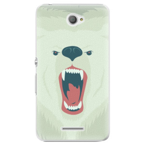 Plastové pouzdro iSaprio Angry Bear na mobil Sony Xperia E4